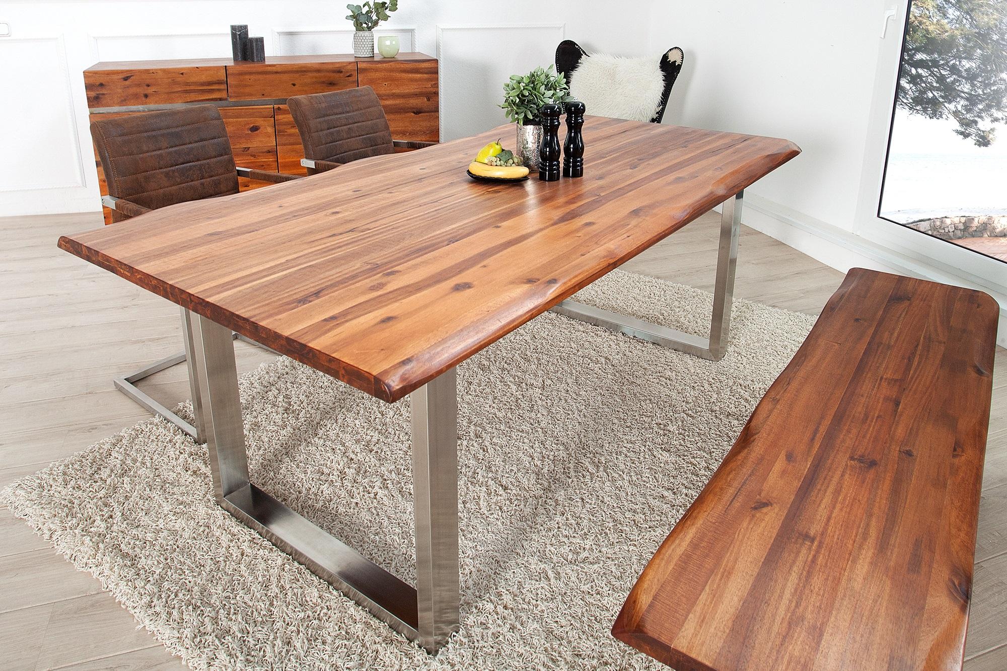 boomstam tafel acacia. Black Bedroom Furniture Sets. Home Design Ideas