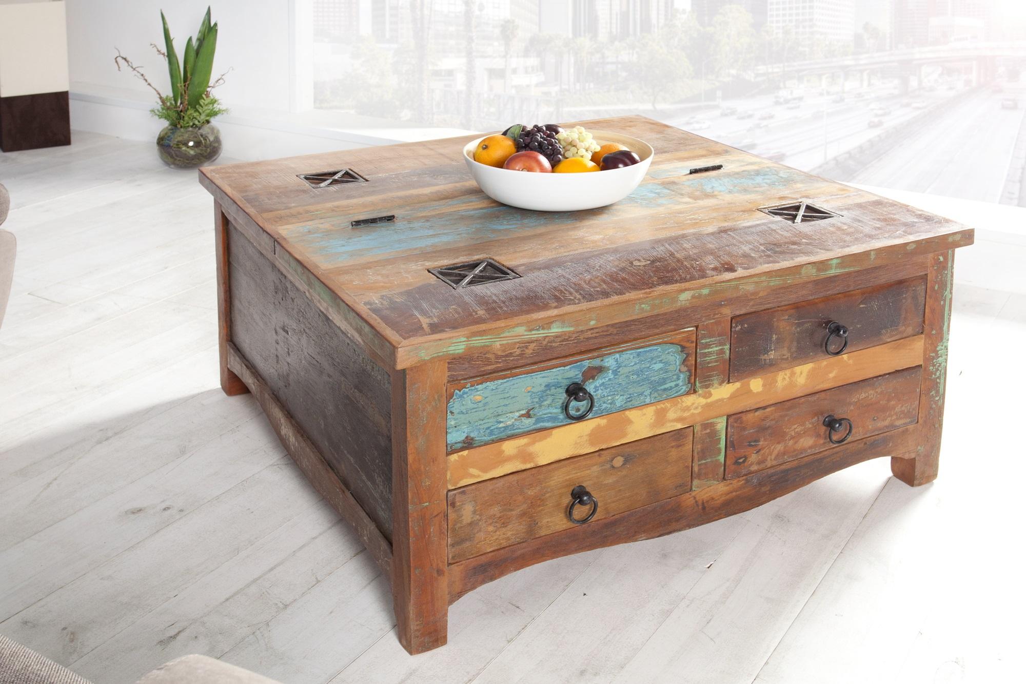 Salon Tafel Hout : Salontafel recycled hout meubeldeals