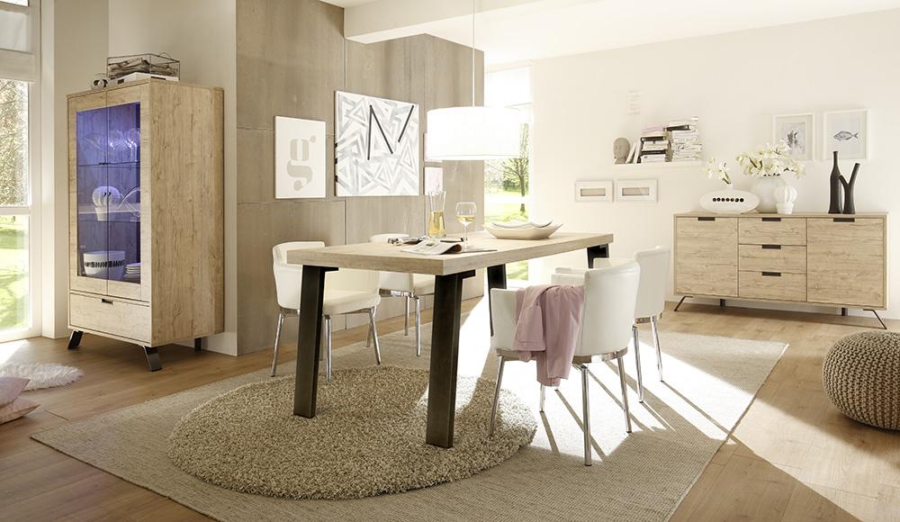Licht Eiken Eettafel : Vierkante eettafel sandro cm breed in licht grijs eiken