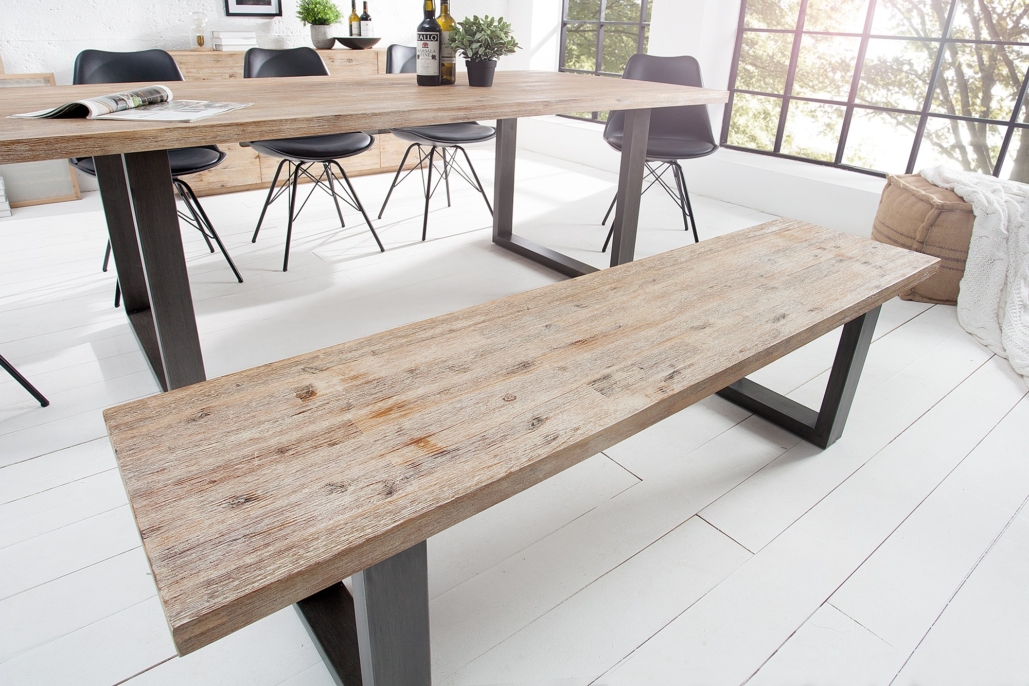Tafel Remy Meijers : Houten bank eettafel cm: suar hout houten boomstamtafel boomstam