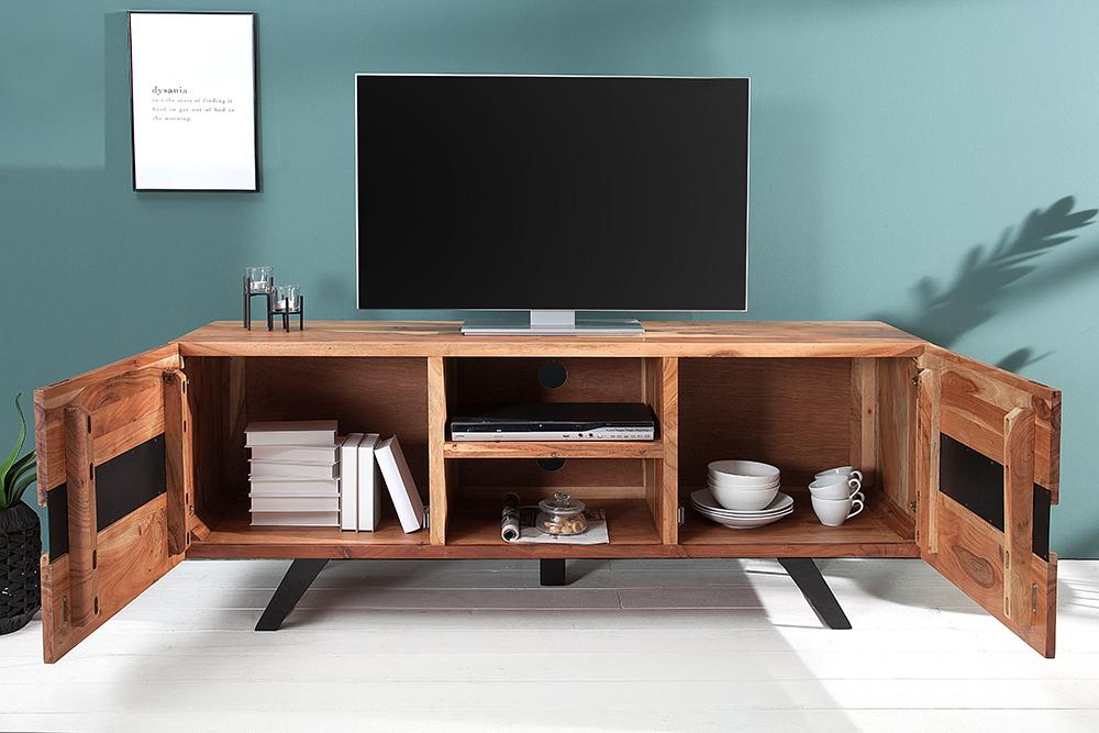 Computer En Tv Meubel.Luxe Tv Meubel Massief Hout Kopen Meubeldeals Nl