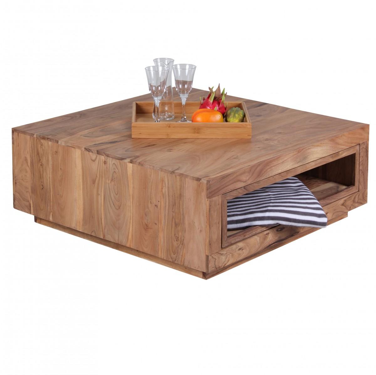 salontafel modern acacia