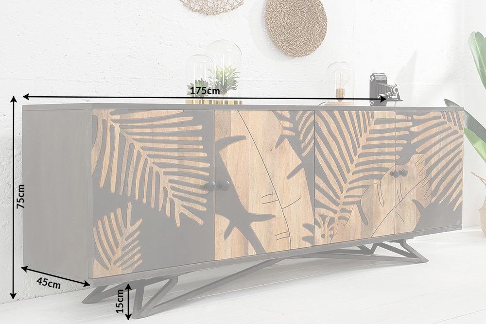 dressoir tropical 175 cm