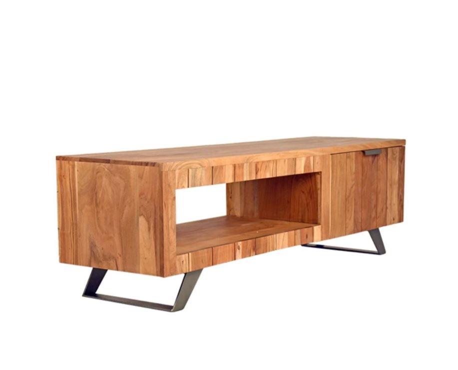 Meubels Massief Hout : Tv meubel massief hout meubeldeals.nl