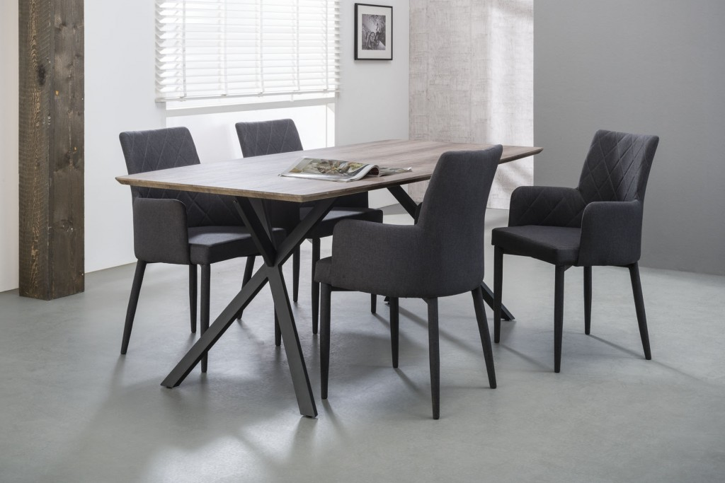 Tafel Grijs Eiken : Moderne vintage tafel kopen meubeldeals