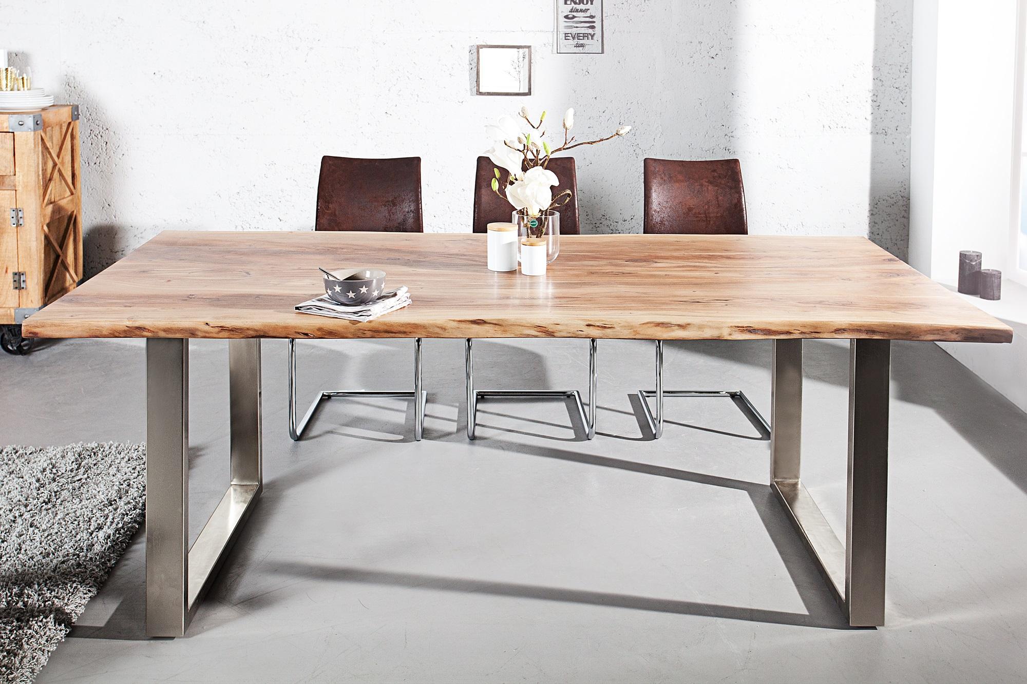 Tafel Van Boomstam : Massief houten boomstam tafel meubeldeals