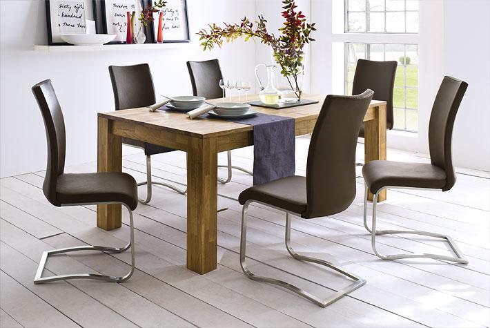 eiken eetkamertafel   meubeldeals.nl
