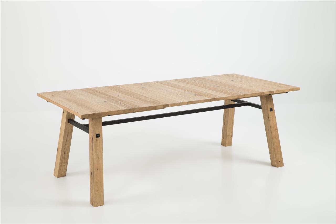Stoere eiken houten tafel kopen meubeldeals
