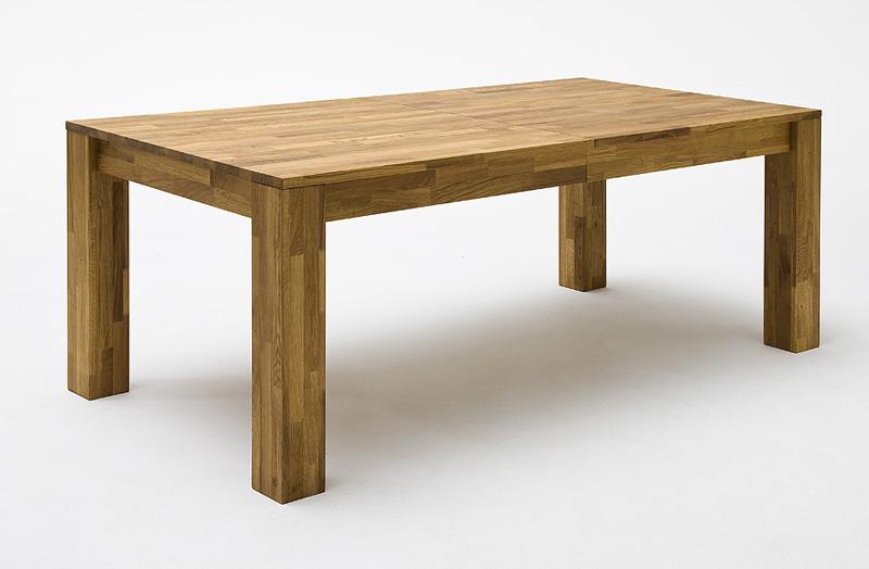 Massief eiken tafel uittrekbaar meubeldeals