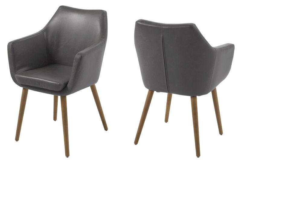 Vintage stoel grijs meubel zevenaar - Hedendaagse stoel ...