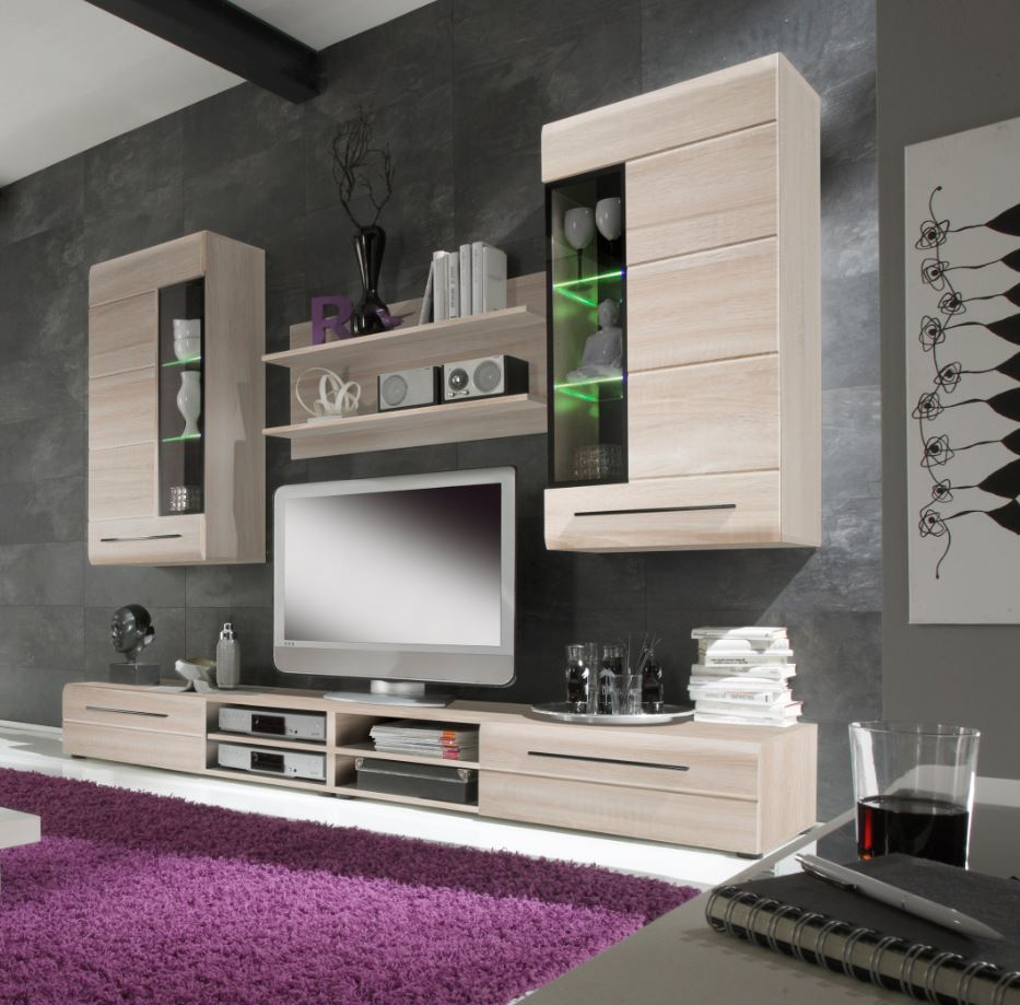 trendy wandmeubel sonoma eiken meubel. Black Bedroom Furniture Sets. Home Design Ideas