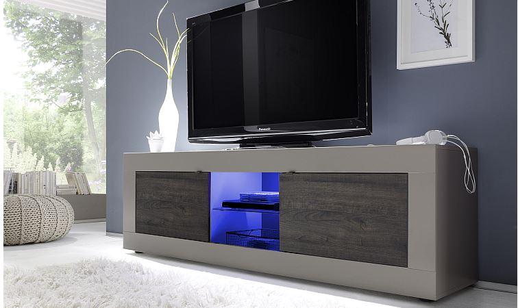 Tv meubel mat lak taupe meubel for Mobili tv moderni