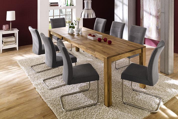 uitschuifbare massieve tafel   meubeldeals nl