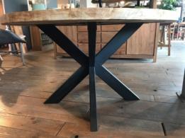 Ronde Tafel 130 : Ronde teak houten tafel kopen meubeldeals