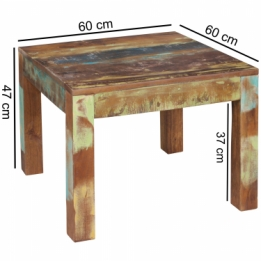 salontafel recycled hout 60 cm