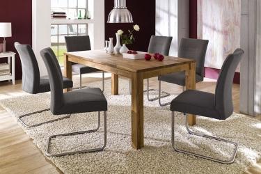 Uitschuifbare massief eiken tafel meubeldeals